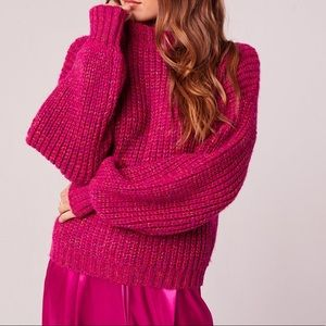 Band of Gypsies Fuchsia knit sweater